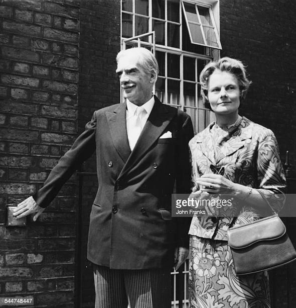 Sir Anthony Eden and Lady Eden arriving at Hyde Park Gate for lunch with Sir Winston Churchill London July 6th 1961