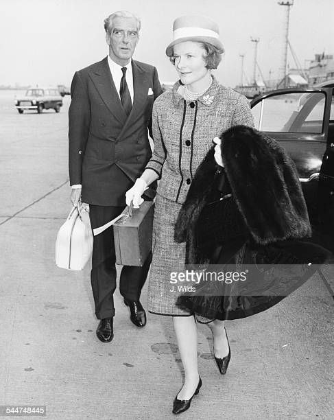 Sir Anthony Eden and Lady Eden leaving for a holiday at London Airport May 9th 1961