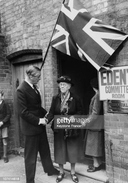 Sir Anthony Eden Greeted By An Old Supporter In England On May 26Th 1955