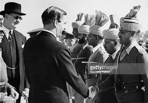 Sir Anthony Eden Shaking Hands With Indian Officers In Egypt On February 21St 1940
