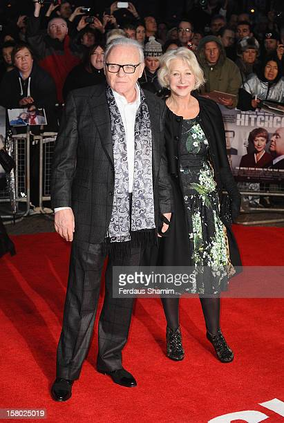 Sir Anthony Hopkins and Dame Helen Mirren attend the UK Premiere of Hitchcock at BFI Southbank on December 9 2012 in London England