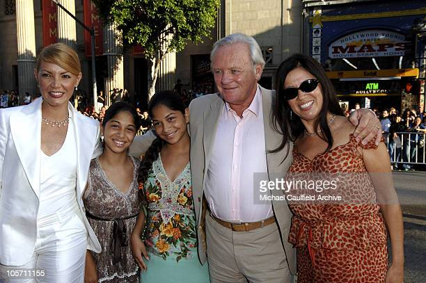 Sir Anthony Hopkins and family during 'War of the Worlds' Los Angeles Fan Screening Red Carpet at Grauman's Chinese Theatre in Hollywood California...
