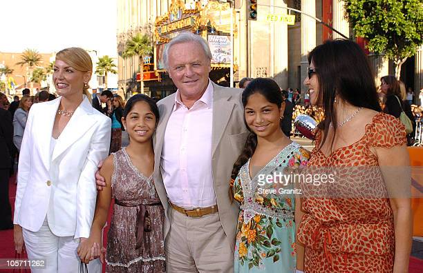 Sir Anthony Hopkins and Family during 'War of the Worlds' Los Angeles Fan Screening Arrivals in Los Angeles California United States