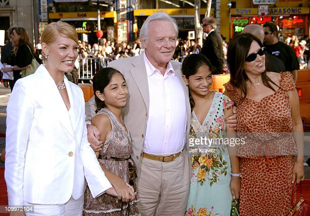 Sir Anthony Hopkins and family during War of the Worlds Los Angeles Premiere and Fan Screening Arrivals at Grauman's Chinese Theater in Los Angeles...