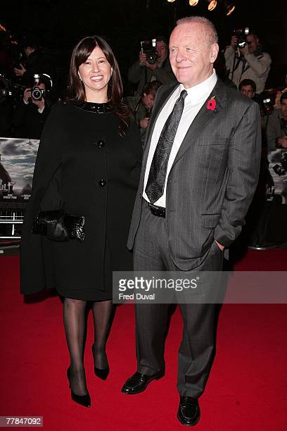 Sir Anthony Hopkins and Guest arriving at the UK film premiere of Beowulf which was held at the Vue Cinema Leicester Square on November 11 2007 in...