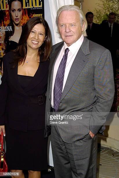 Sir Anthony Hopkins and wife Stella Arroyave during 11th Annual Premiere Women in Hollywood Luncheon at Four Seasons Hotel in Beverly Hills...
