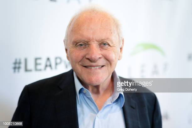 Sir Anthony Hopkins attends the LEAP Foundation on July 25 2018 in Los Angeles California