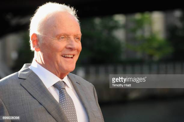 Sir Anthony Hopkins attends the US premiere of Transformers The Last Knight at the Civic Opera House on June 20 2017 in Chicago Illinois