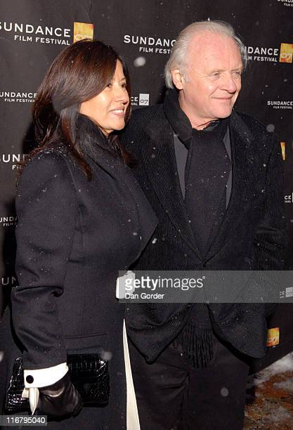 Sir Anthony Hopkins Director/Screenwriter/Actor and Stella Arroyave