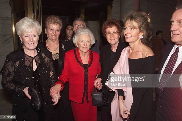 Sir Anthony Hopkins mother and family members at the post premiere party for the movie 'Hannibal' at the New York Public Library New York City Monday...
