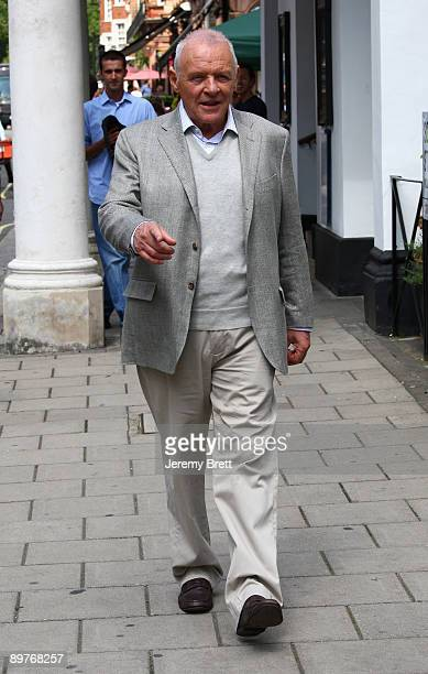 Sir Anthony Hopkins seen on set during filming for Woody Allen's latest film currently entitled Wasp 09 in Mayfair on August 13 2009 in London England