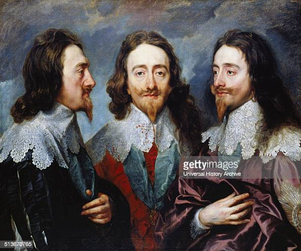 Sir Anthony Van Dyck triptych portrait of King Charles I of England