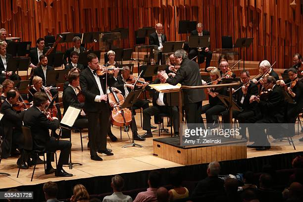 Sir Antonio Pappano conducts the London Symphony Orchestra in the Beethoven Violin Concerto with soloist violinist Nikolaj Znaider at Barbican Centre...