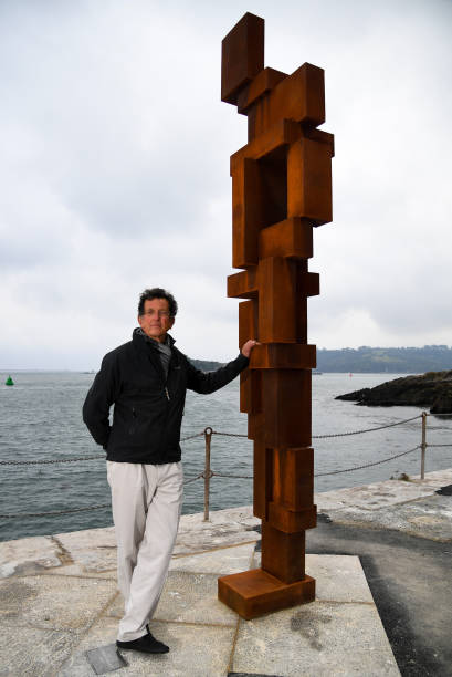 GBR: Sir Antony Gormley Shows His New Permanent Installation Look II On Plymouth's West Pier