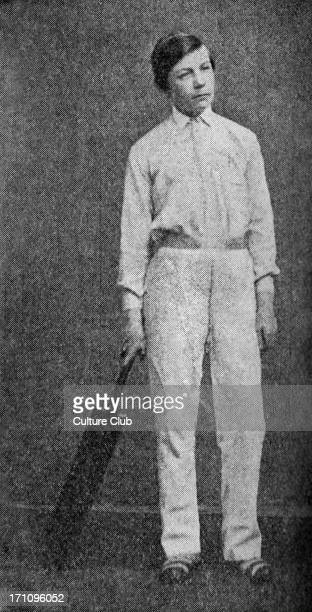 Sir Arthur Conan Doyle age 14 Portrait as a boy with cricket bat Scottish author and creator of Sherlock Holmes Scottish author and crime writer 22...