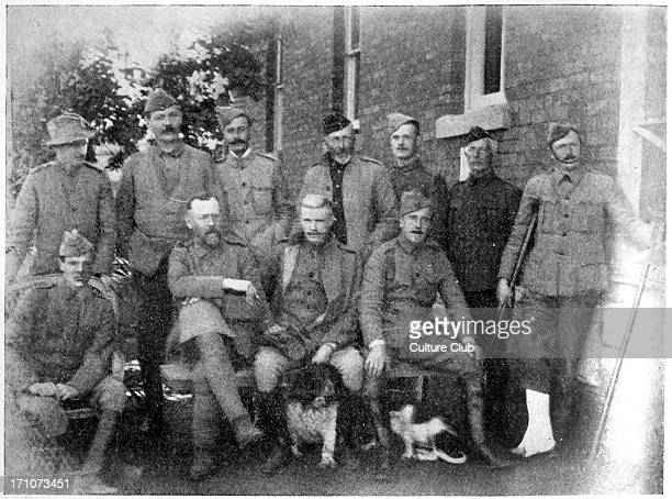Sir Arthur Conan Doyle with the Officers of the Langman Hospital in South Africa date unknown Scottish author and creator of Sherlock Holmes 22 May...