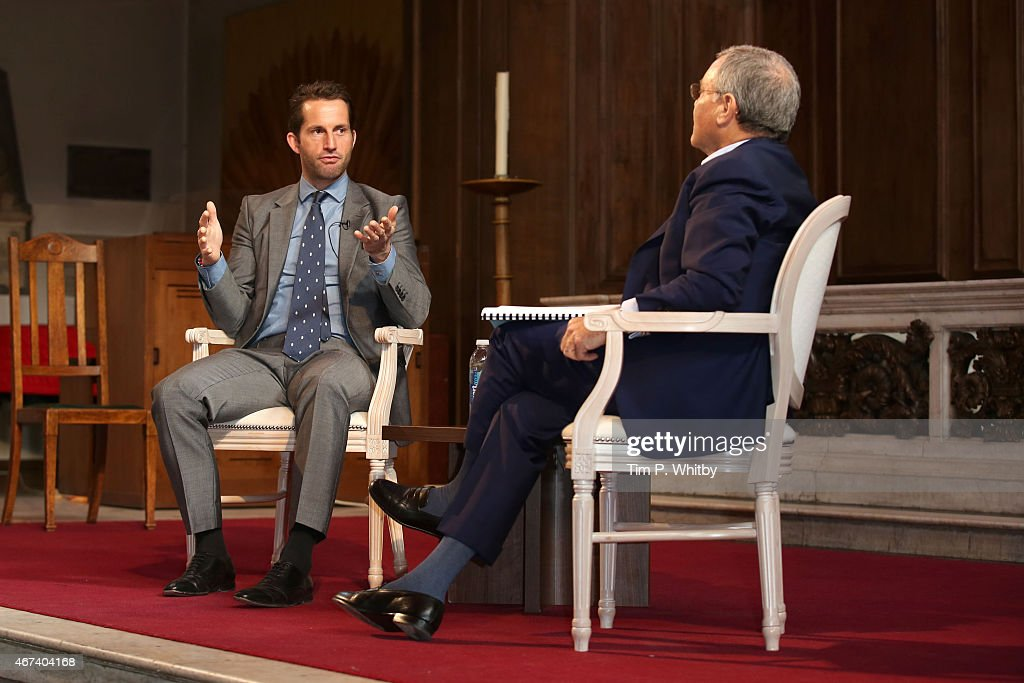 Sir Ben Ainslie and Sir Martin Sorrell speak during Winning: Sir Martin Sorrell and Sir Ben Ainslie, part of Advertising Week Europe, Piccadilly, on March 24, 2015 in London, England.