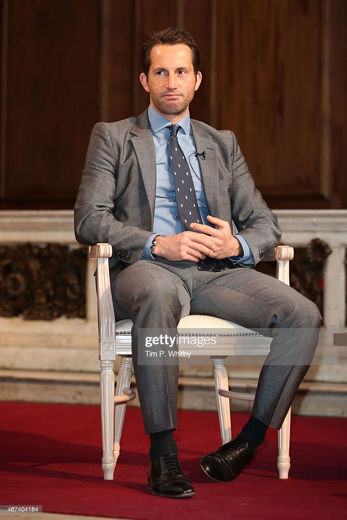 Sir Martin Sorrell and Sir Ben Ainslie, part of Advertising Week Europe, Piccadilly, on March 24, 2015 in London, England.