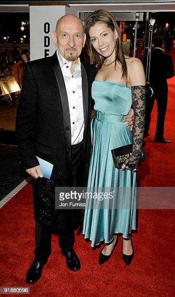 Sir Ben Kingsley and Daniela Barbosa de Carneiro attend the Opening Gala for The Times BFI London Film Festival which Premiere's 'Fantastic Mr Fox'...
