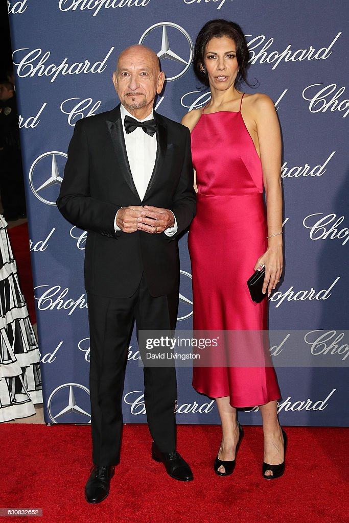 Sir Ben Kingsley and Daniela Lavender arrive at the 28th Annual Palm Springs International Film Festival Film Awards Gala at the Palm Springs Convention Center on January 2, 2017 in Palm Springs, California.