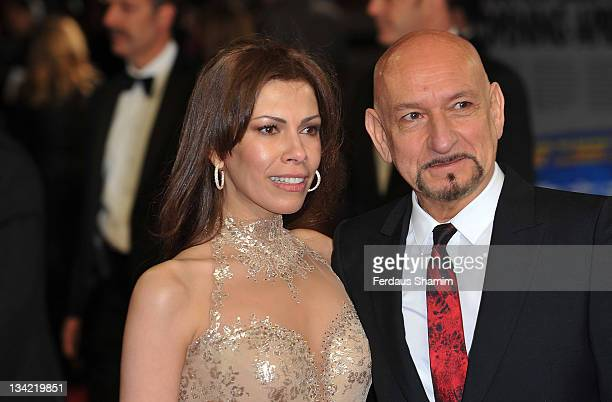 Sir Ben Kingsley and Daniela Lavender attend the 3D screening of Hugo as part of the Royal Film Performance at Odeon Leicester Square on November 28,...