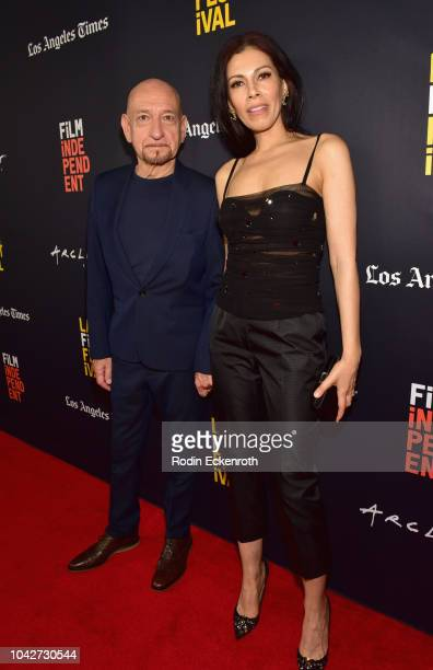 """Sir Ben Kingsley and Daniela Lavender attend the Closing Night Screening of """"Nomis"""" during the 2018 LA Film Festival at ArcLight Cinerama Dome on..."""