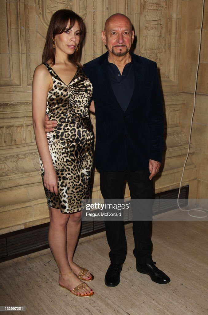 Sir Ben Kingsley and Daniela Lavender attend The Prince's Trust Rock Gala 2011 at The Royal Albert Hall on November 23, 2011 in London, United Kingdom.