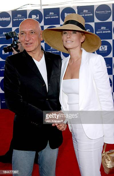Sir Ben Kingsley and Lady Alexandra Christmann during 2004 Independent Spirit Awards Arrivals at Santa Monica Pier in Santa Monica California United...