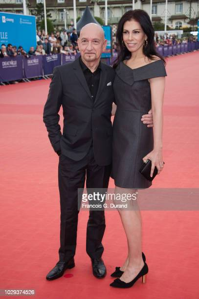 Sir Ben Kingsley and wife Daniela Lavender arrive at the award ceremony of the 44th Deauville American Film Festival on September 8 2018 in Deauville...