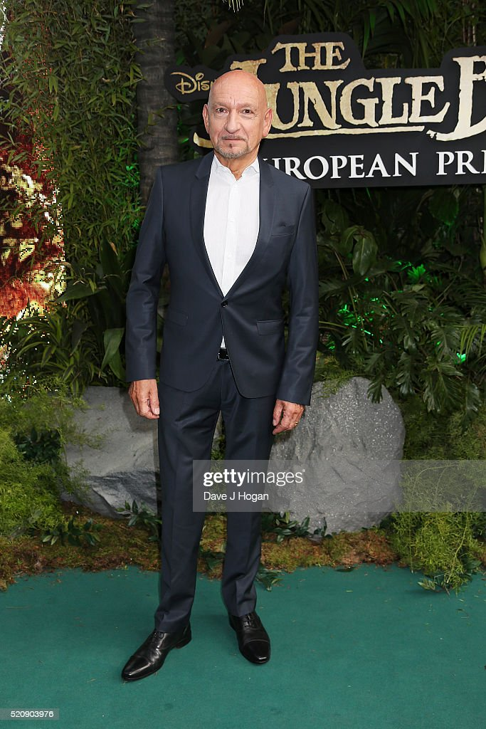 Sir Ben Kingsley arrives for the European premiere of 'The Jungle Book' at BFI IMAX on April 13, 2016 in London, England.