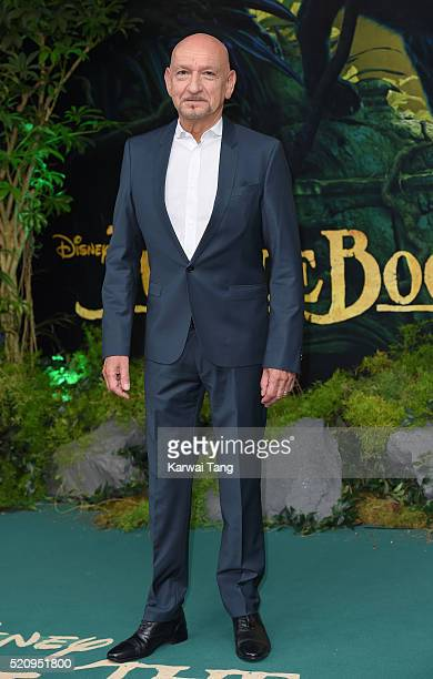 Sir Ben Kingsley arrives for the European premiere of 'The Jungle Book' at BFI IMAX on April 13 2016 in London England