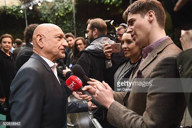 Sir Ben Kingsley attends the European Premiere of The Jungle Book at BFI IMAX on April 13 2016 in London England