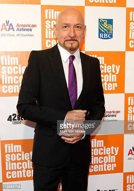 Sir Ben Kingsley attends The Film Society of Lincoln Center's presentation of the 38th Annual Chaplin Award at Alice Tully Hall on May 2, 2011 in New...