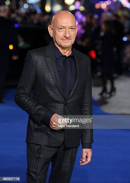 Sir Ben Kingsley attends the UK Premiere of 'Night At The Museum Secret Of The Tomb' at Empire Leicester Square on December 15 2014 in London England