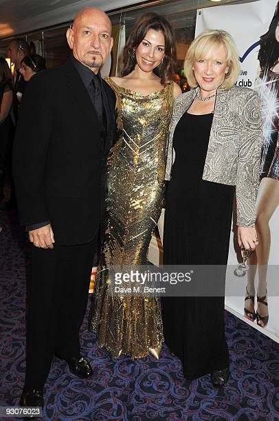 Sir Ben Kingsley Daniela Lavender and Claire Horton attend the Variety Club Showbiz Awards at the Grosvenor House on November 15 2009 in London...