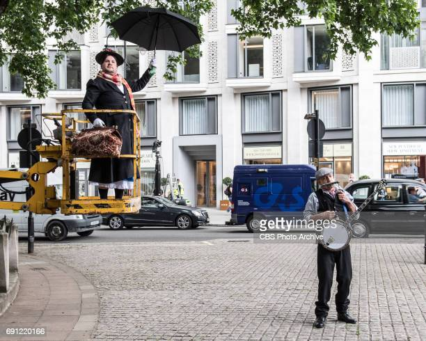 Sir Ben Kingsley performs Crosswalk the Musical Mary Poppins with James Corden in London during 'The Late Late Show with James Corden' airing Tuesday...
