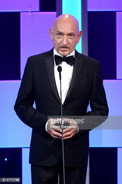 Sir Ben Kingsley speaks onstage at the 30th Annual American Cinematheque Awards Gala at The Beverly Hilton Hotel on October 14 2016 in Beverly Hills...