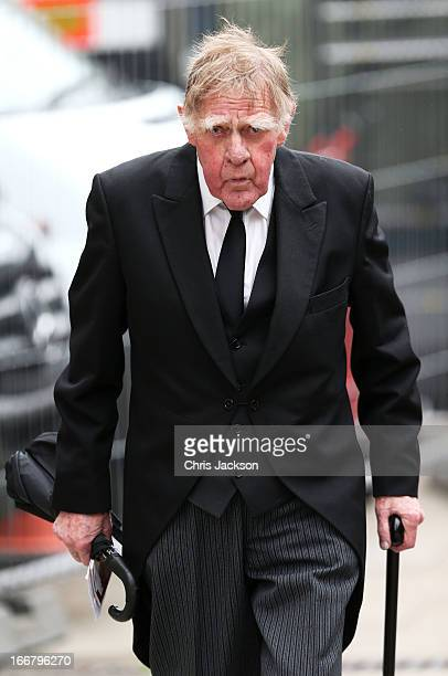 Sir Bernard Ingham attends the Ceremonial funeral of former British Prime Minister Baroness Thatcher at St Paul's Cathedral on April 17 2013 in...