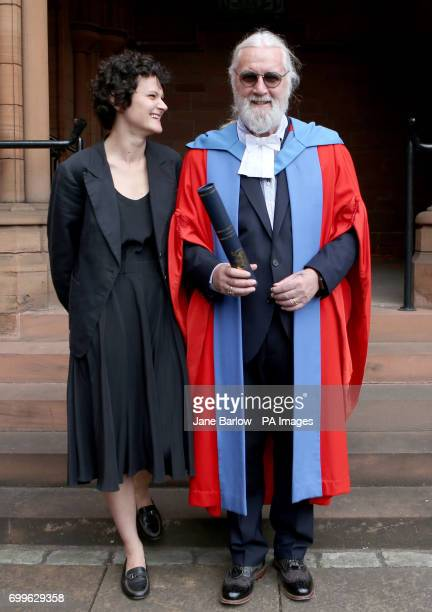 Sir Billy Connelly, with daughter Cara, after he received his Honorary Doctorate degree from the University of Strathclyde in Glasgow.