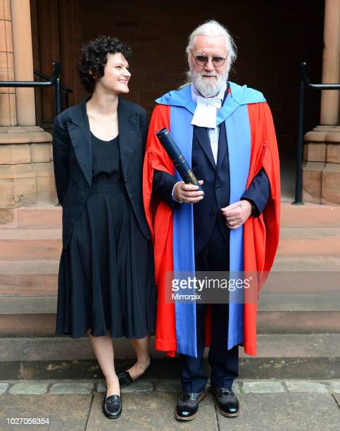 Sir Billy Connolly with his daughter Cara receives honorary degree at the Barony Hall in Glasgow from Strathclyde University 22nd June 2017