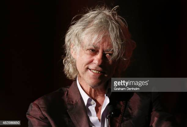 Sir Bob Geldof addresses the 20th International AIDS Conference at The Melbourne Convention and Exhibition Centre on July 24 2014 in Melbourne...