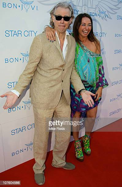 Sir Bob Geldof and Camilla Franks arrive at the exclusive Bon Jovi concert at Star City on December 15 2010 in Sydney Australia
