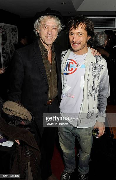 Sir Bob Geldof and Dan Macmillan attend the Project Zoltar 10th anniversary celebration and launch of Zoltar the Magnificent at The Groucho Club on...