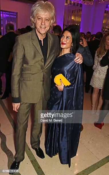 Sir Bob Geldof and Fatima Bhutto attend The London Evening Standard British Film Awards at Claridge's Hotel on December 8 2016 in London England