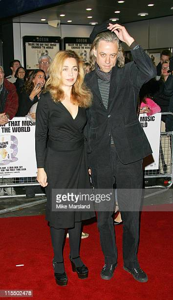 Sir Bob Geldof and guest during 'Live Aid' DVD Launch Screening at Odeon Kensington in London Great Britain