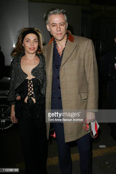 Sir Bob Geldof and Jean Marine during 2006 NRJ Music Awards at Midem After Show Departures at Palais des Festivals in Cannes France