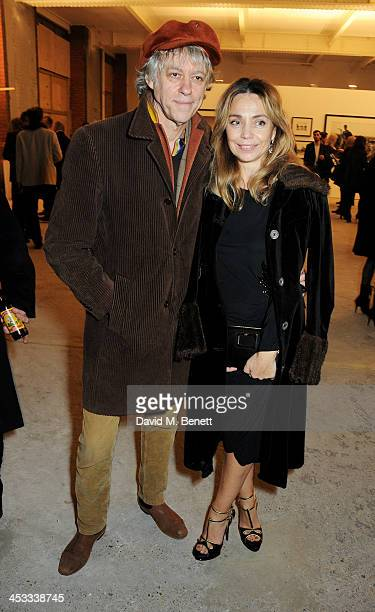 Sir Bob Geldof and Jeanne Marine attend a private view of Nikolai Von Bismarck's new photography exhibition 'In Ethiopia' at 12 Francis Street...