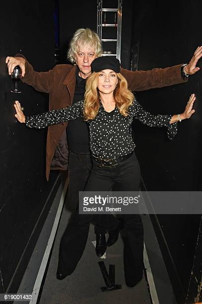 Sir Bob Geldof and Jeanne Marine attend Bill Wyman's 80th Birthday Gala as part of BluesFest London at Indigo at The O2 Arena on October 28 2016 in...