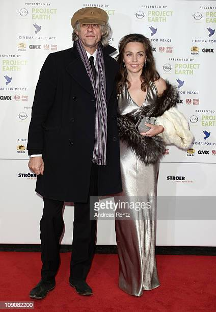 Sir Bob Geldof and Jeanne Marine attend the Cinema for Peace Gala at the Konzerthaus Am Gendarmenmarkt during day five of the 61st Berlin...