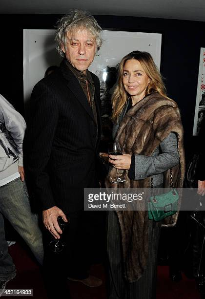 Sir Bob Geldof and Jeanne Marine attend the Project Zoltar 10th anniversary celebration and launch of Zoltar the Magnificent at The Groucho Club on...